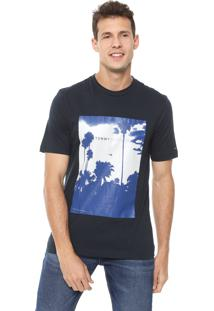 Camiseta Tommy Hilfiger Palm Photo Azul-Marinho