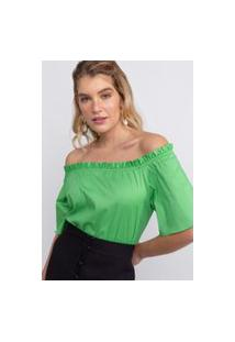 Blusa Mila Tricoline Verde