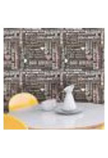 Papel De Parede Autocolante Rolo 0,58 X 3M - Cozinha Frases 262690838