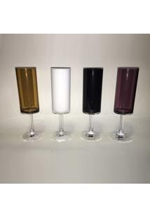 Taça Em Acrílico Para Champagne Mjn1-C