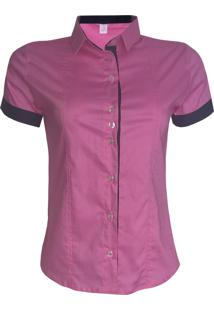 Camisa Lojas Vicenttino Manga Curta Rosa