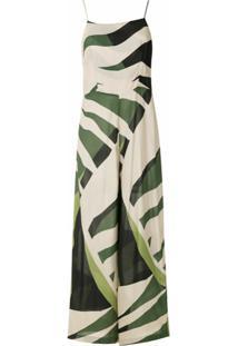 Osklen Macacão Tropi Green Recortes - Colorido