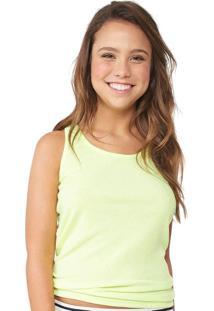 Camiseta Regata Nadador Limão Flúor Capricho | 560.031