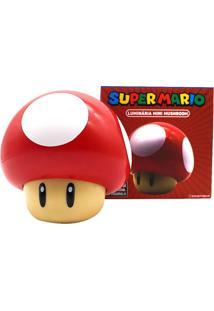Luminária Mini Mushroom Mario Bross