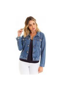 Jaqueta Kassis Com Bolso Jeans