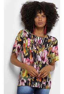 Blusa Colcci Floral Feminina - Feminino
