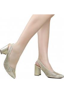 Sapato Zariff Slingback Tressê