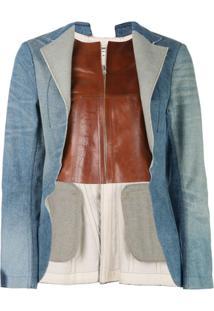 Junya Watanabe Jaqueta Jeans Com Abertura Frontal - Azul