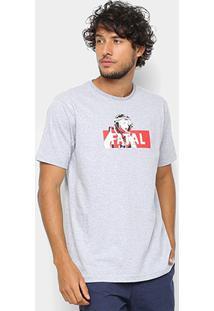 Camiseta Fatal Estampa Logo Masculina - Masculino-Mescla