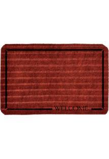 Capacho Carpet Welcome Vermelho Único Love Decor
