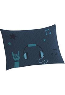 Fronha Music Algodão 1 Peça Lepper Azul Escuro