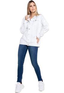 Calça Tradicional Feminina Jeans Skinny - Feminino-Azul