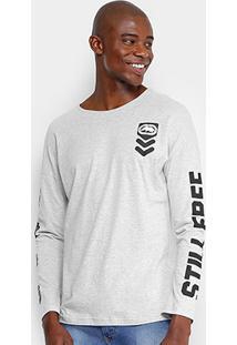 Camiseta Ecko Manga Longa Estampada Masculina - Masculino