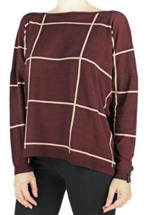 Blusa Biamar Feminina - Feminino-Bordô