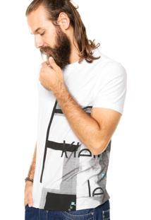 Camiseta Calvin Klein Jeans Estampa Branca