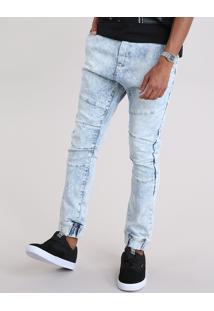 Calça Jeans Relaxed Azul Claro