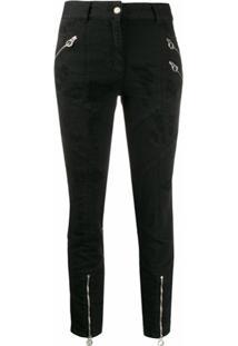 Just Cavalli Calça Jeans Skinny Destroyed - Preto