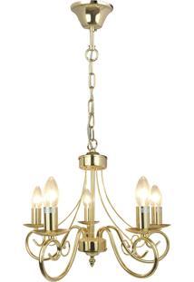 Lustre Premier Iluminação Barroque Dourado