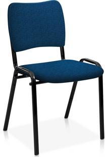 Cadeira Fixa Estofada Atena S/ Braã§Os Az Azul - Azul - Dafiti