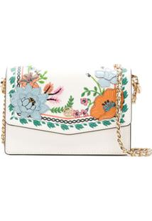 Tory Burch Robinson Applique Mini Shoulder Bag - Branco