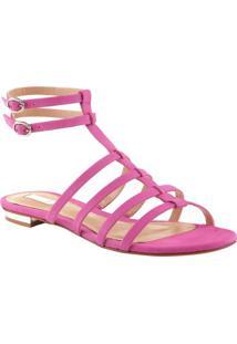 Sandália Rasteira Com Tiras - Pinkschutz