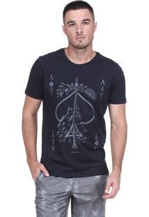 Camiseta King&Joe Estampada Preta