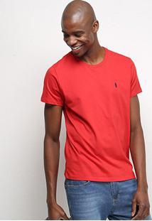 Camiseta Coca-Cola Lisa Masculina - Masculino-Vermelho