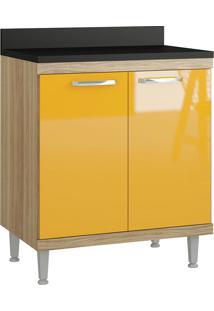 Balcão 700Mm 5122 Sicília - Multimóveis - Argila Acetinado / Amarelo Gema