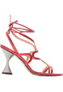 Sandália Feminina Metalcolor - Vermelho