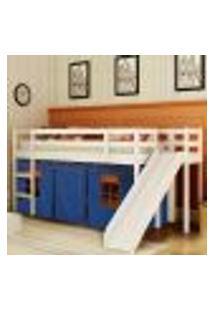 Cama Com Escorregador Lateral Ou Transversal – Maior Espaço No Quarto – Tenda Castelo Azul - Casatema