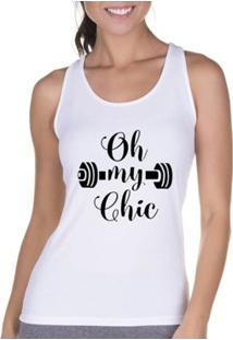 Regata Criativa Urbana Cavada Fitness Chic - Feminino