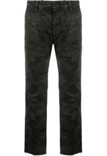 Nili Lotan Camouflage-Print Cropped Trousers - Preto