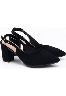 Scarpin Charlote Shoes Nobuck Preto