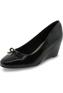 Sapato Feminino Anabela Beira Rio - 4791413 Verniz/Preto 35