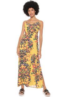 f0d160a9f R$ 209,99. Dafiti Vestido Longo Redley Amarelo Bricks