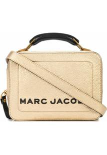 Marc Jacobs Carteira Metálica Texturizada Mini - Dourado