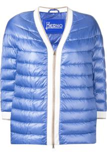 Herno Short Puffer Jacket - Azul