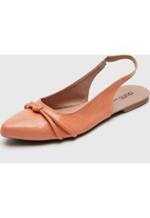 Sapatilha Dafiti Shoes Slingback Coral - Coral - Feminino - Sintã©Tico - Dafiti