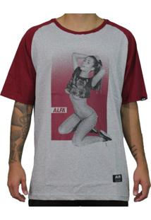 Camiseta Alfa Raglan Girl Five Bordo