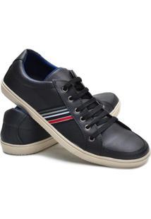 Sapatênis Casul Cook Shoes Masculino - Masculino-Preto