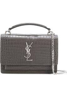 Saint Laurent Bolsa Transversal Sunset - Cinza