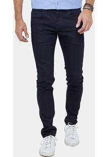 Calça Jeans Slim Rock & Soda Básica Escura Masculina - Masculino