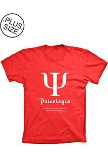 Camiseta Lu Geek Plus Size Psicologia Vermelho