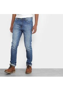 Calça Jeans Slim Colcci Felipe Estonada Puídos Cintura Média Masculina - Masculino