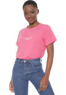 Camiseta Colcci Neon Lettering Pink