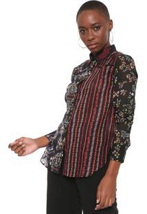 Camisa Desigual Leila Preta