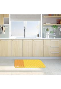 Tapete De Cozinha Mdecore Abstrato Amarelo 40X60Cm