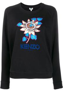 Kenzo Blusa De Moletom Passion Flower - Preto