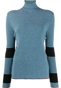 Marni Blusa De Tricô Listrado - Azul