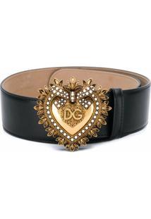 Dolce & Gabbana Cinto Com Fivela Devotion Com Fivela - Preto